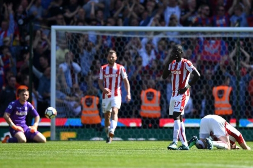 Stoke City 1 Crystal Palace 2 Relegation after a decade in the Premier League