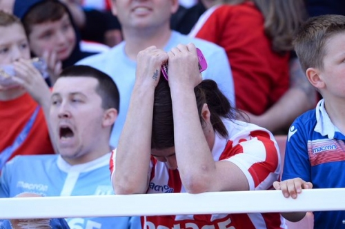 Stoke City 1, Crystal Palace 1: Resignation and recrimination from Potters fans as relegation is confirmed