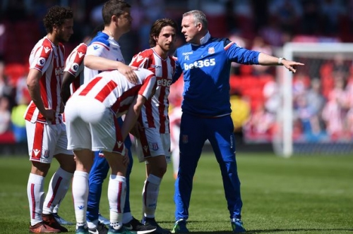 Stoke City boss tries hard to woo fans to his side for battle ahead after relegation is confirmed