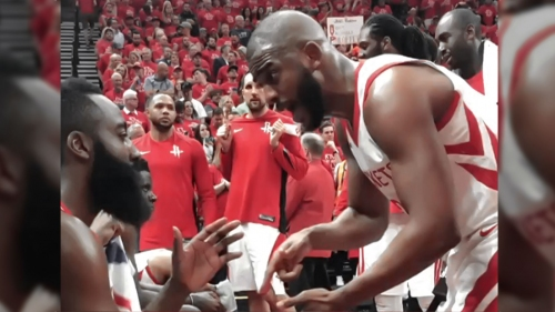 Rockets video: James Harden, Chris Paul get into it during timeout in Game 3
