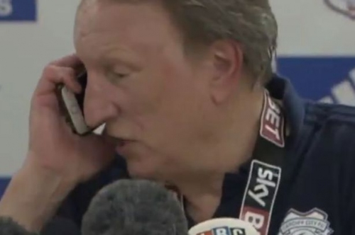 The touching family moment that forced Cardiff City boss Neil Warnock to halt his celebration press conference