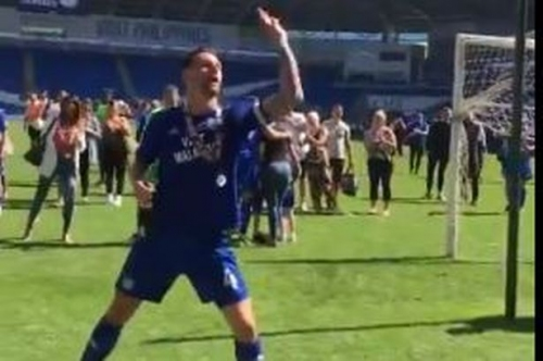The brilliant video of a dancing Sean Morrison after Cardiff City's promotion that sums up a glorious day