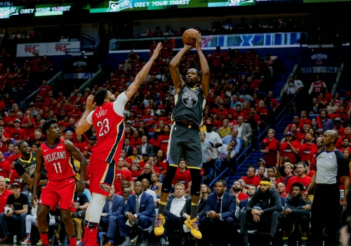 Kevin Durant scores 38, Warriors dominate Pelicans to take 3-1 series lead