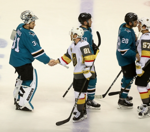 Sharks notes: Vegas' unstoppable top line; Kane non-committal about returning