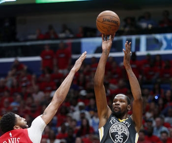 Kevin Durant's scores 38, Warriors down Pelicans for 3-1 lead