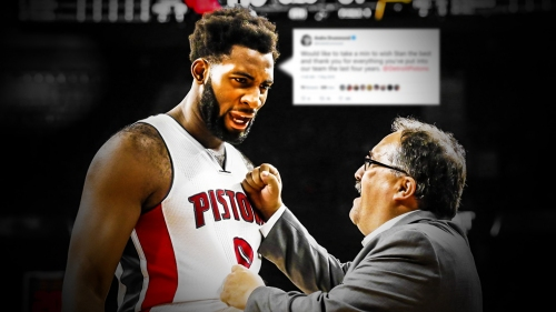 Pistons news: Andre Drummond tweets out thank you to Stan Van Gundy