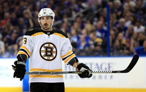 Brad Marchand wasn't a fan of the Montreal Canadiens' latest tweet about Boston Bruins