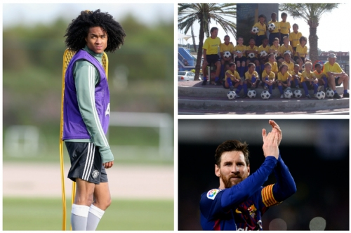 Manchester United player Tahith Chong had the opposite problem to Lionel Messi