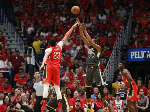 Can Anthony Davis be the answer to slowing down Kevin Durant in Game 5?