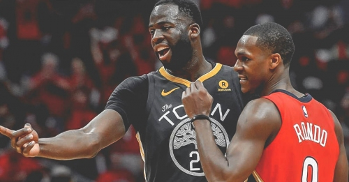 Draymond Green tips his hat to Rajon Rondo after Game 5