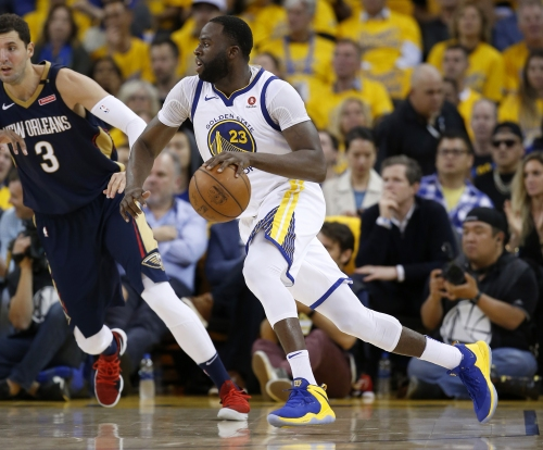 "Draymond Green on crashing Pelicans' huddle: ""I saw the play"""