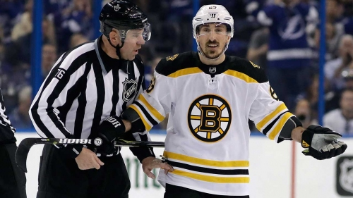 Bruins' Brad Marchand admits he went too far with licking incident