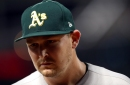 A's lose another starter to elbow injury, center fielder of future called up