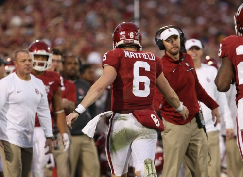 Oklahoma football: WATCH Lincoln Riley talk Baker Mayfield being backup and Browns' fans getting over flag plant