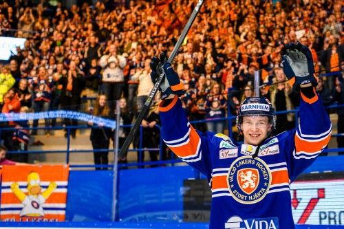 Elias Pettersson game worn Växjö Lakers jersey auctioned off for $7400