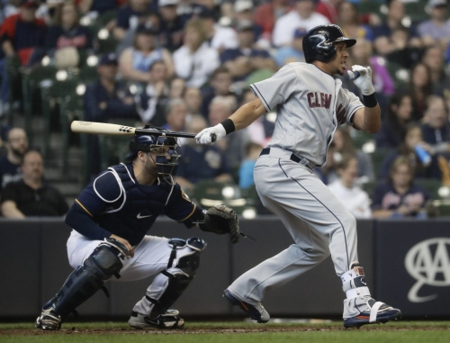 Carlos Carrasco strikes out 14, singles home a run as Cleveland Indians beat Milwaukee, 6-2