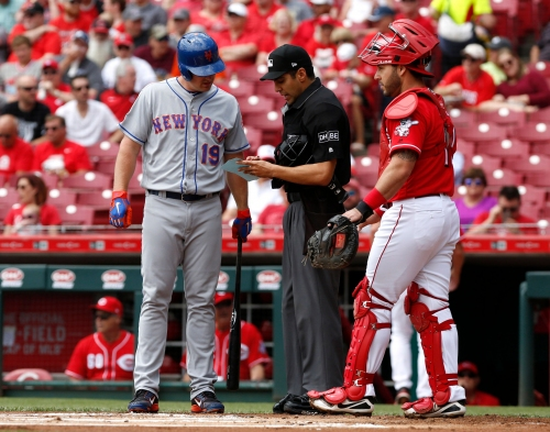 Why was Jay Bruce called out when he didn't bat out of turn?