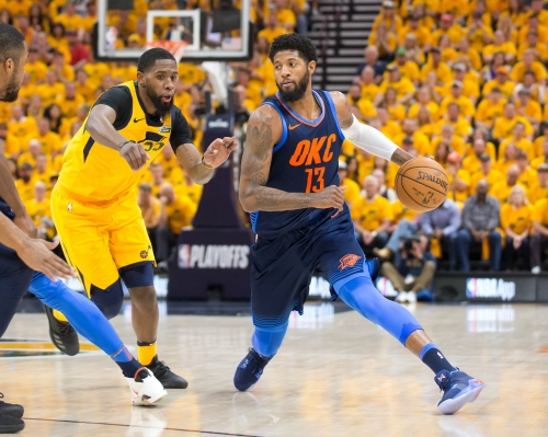 Thunder's Paul George undergoes left knee scope; out six-to-eight weeks