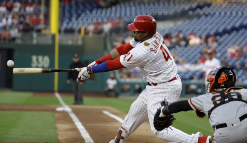 Carlos Santana stays hot with five RBIs as Phillies rout Giants
