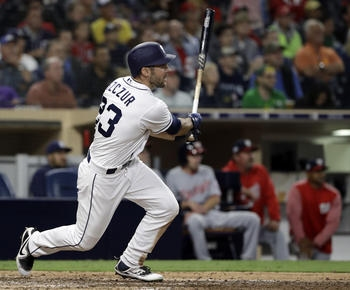 Szczur's RBI double lifts Padres past Nationals 2-1