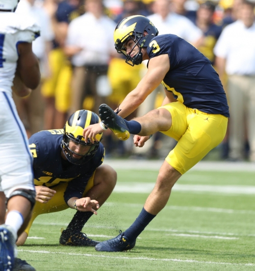 Michigan's Quinn Nordin working way back from the wild side