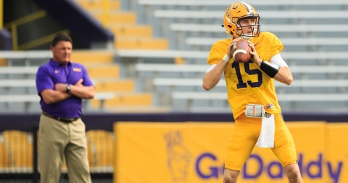 If LSU signs Joe Burrow, Ed Orgeron finally has QB of his own
