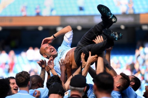 Pep Guardiola's motivational message for Man City players after title high