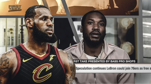 Meek Mill recruits Cavs' LeBron James to Sixers