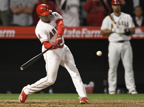 Justin Upton has been swinging a hot bat for the Angels