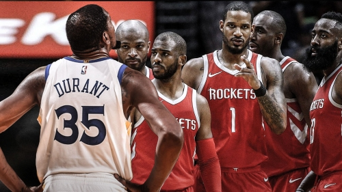 Kevin Durant breaks down the Rockets' defense