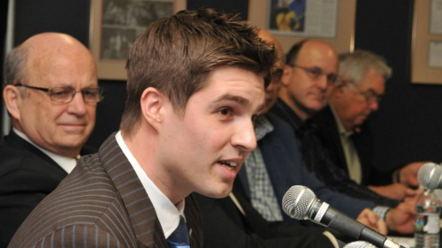 Watch Live: Maple Leafs announce promotion of Kyle Dubas