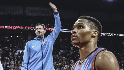 Russell Westbrook's NSFW parting message for Nick Collison