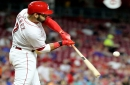 Cincinnati Reds third baseman Eugenio Suarez making up for lost time in batter's box