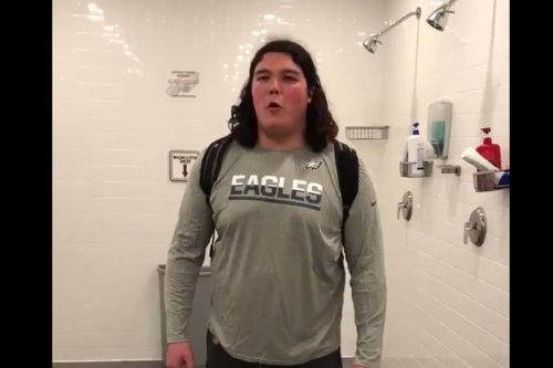 The Linc - One Eagles rookie is really good at singing the Halo theme song