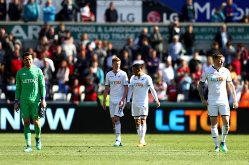 A miserable end to a joyless season as Swansea City's Premier League existence is wiped out in defeat