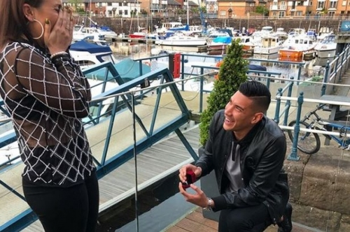 The moment Cardiff City hero Neil Etheridge proposed to his girlfriend