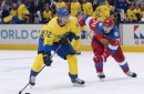 Patric Hornqvist scored a very Patric Hornqvist-like goal in his 2018 World Championships debut