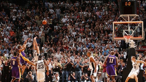 This Day In Lakers History: Derek Fisher Makes Game-Winner With 0.4 Seconds Left To Beat Spurs in Western Conference Playoffs