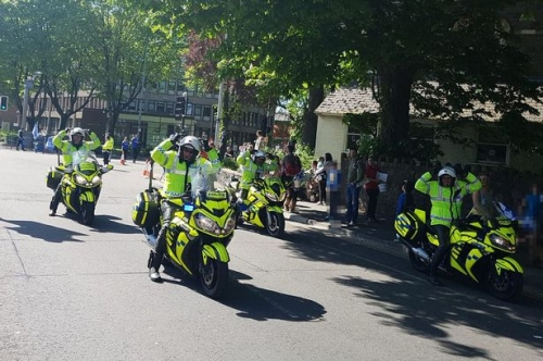 Cardiff City promotion parade even had police officers doing the Ayatollah