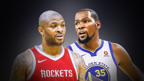 P.J. Tucker can only laugh at the idea of containing Kevin Durant
