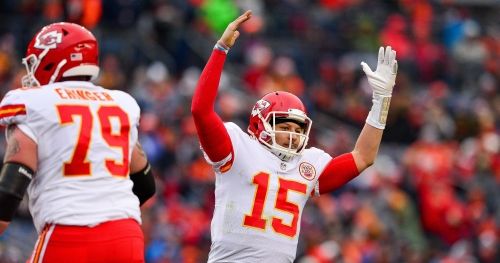 Patrick Mahomes actually practiced that no-look pass while at Texas Tech
