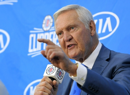 Clippers sending Jerry West to NBA Draft Lottery as their good luck charm