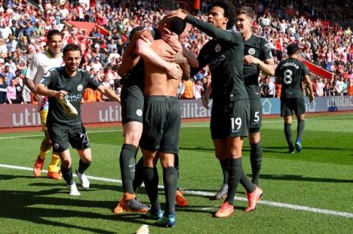 Man City star Leroy Sane appealed for Gabriel Jesus' late Man City winner to be offside!