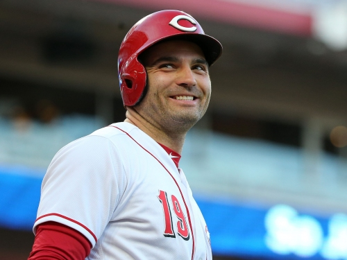 Joey Votto on the earthquake: I got taken out of the game because of it, are you kidding me? I'm a sensitive soul(wink, wink)