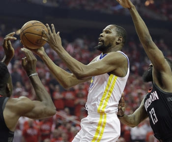 Kevin Durant's 37 lead Warriors over Rockets 119-106