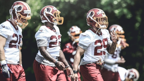 Redskins RB Derrius Guice is a 'ball of energy' in rookie minicamp