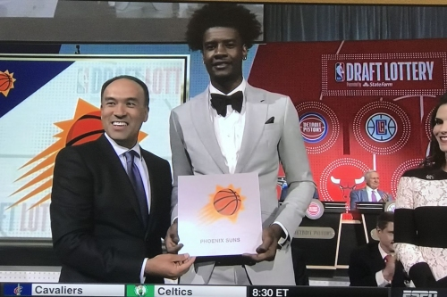 Phoenix Suns finish No. 1 in draft lottery for first time in franchise history