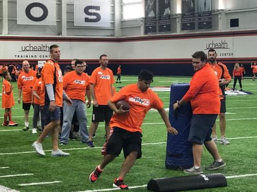 Denver Broncos team up with Special Olympics Colorado for Play 60 event
