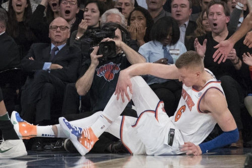 Kristaps Porzingis' timeline for return will be clearer in Sept.