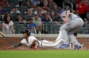 Braves blow late lead as Cubs win strange game, 3-2